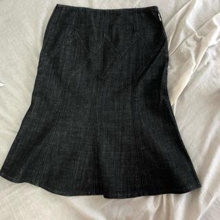 バーバリー(BURBERRY)のBurberry デニムチューリップスカート(ひざ丈スカート)