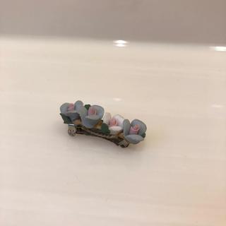 花 陶器 ヘアクリップ お花 フラワー