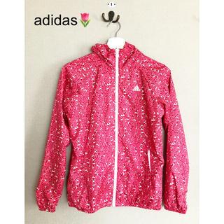 アディダス(adidas)のadidas🌷 🌼花柄🌼 レディース ウインドフルジップ(ナイロンジャケット)