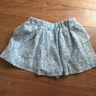 GU - GU 110cm スカートショートパンツ ブルー花柄