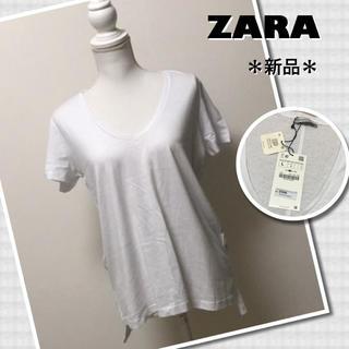 ザラ(ZARA)の送料込【新品】ZARA Tシャツ(Tシャツ(半袖/袖なし))