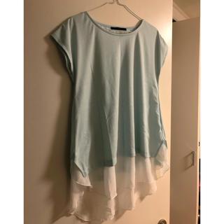YEVSミント色重ね着風Tシャツ