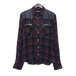 クロムハーツ(Chrome Hearts)のクロムハーツCHROME HEARTS■バックフレアニーガーゼチェックシャツ(シャツ)
