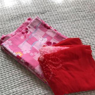 ユニクロ(UNIQLO)のキッズ浴衣❤帯付き(甚平/浴衣)