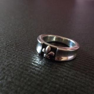 011 ワンポイント☆ユリリング7号 シルバー925製 リリー百合(リング(指輪))