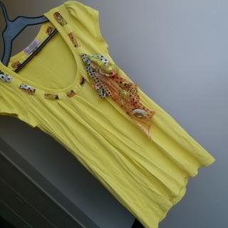 ashley☆リボン付カットソー☆送料込(Tシャツ(半袖/袖なし))
