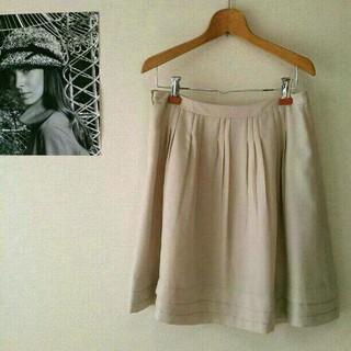 プーラフリーム(pour la frime)の白ふんわりスカート(ひざ丈スカート)