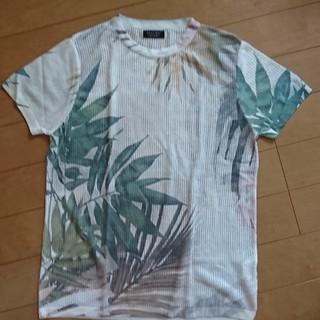 ザラ(ZARA)の今季 ZARA MAN メッシュ 柄 Tシャツ M メンズ プリント(Tシャツ/カットソー(半袖/袖なし))