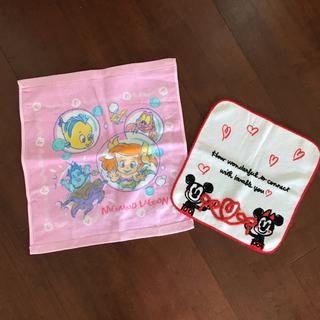 ディズニー(Disney)のディズニー ハンドタオル 2枚セット(タオル)