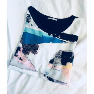 ザラ(ZARA)のZARA アートTシャツ(Tシャツ(半袖/袖なし))