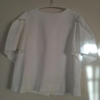 アドーア(ADORE)の専用お取り引き アドーア 後ろボタントップス ホワイト (カットソー(半袖/袖なし))
