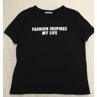 ザラ(ZARA)のZARA ザラ ロゴ Tシャツ ブラック(Tシャツ(半袖/袖なし))