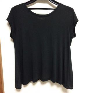 ザラ(ZARA)の美品 ZARA ザラ 半袖Tシャツ 黒 ブラック(Tシャツ(半袖/袖なし))