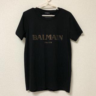 バルマン(BALMAIN)のBALMAIN ロゴ Tシャツ black×gold(Tシャツ/カットソー(半袖/袖なし))