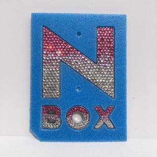 ホンダ NBOX NBOX custom エンブレム デコ ピンク グラデ