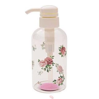 ロマンティックローズ ガラスローションボトル 17.5×6.5cm(タオル/バス用品)