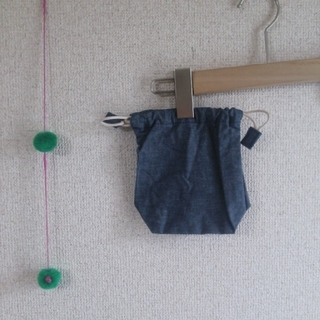 ムジルシリョウヒン(MUJI (無印良品))の未使用!無印 コップ袋 デニム(水筒)