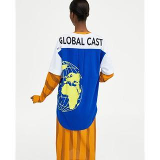ザラ(ZARA)の新品 完売品 ZARA S バックプリント オーバーサイズ Tシャツ(Tシャツ(半袖/袖なし))