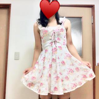 リズリサ(LIZ LISA)のLIZLISA☆花柄レースキャミワンピース(ミニワンピース)