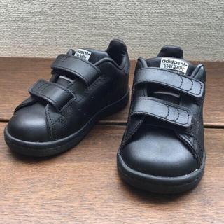 アディダス(adidas)の美品♡  adidas  スタンスミス ブラック 13cm  & ブルー 2足(スニーカー)