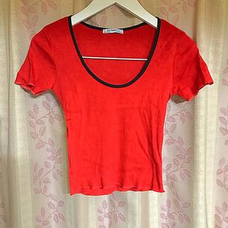 ザラ(ZARA)のリブTEE(Tシャツ(半袖/袖なし))