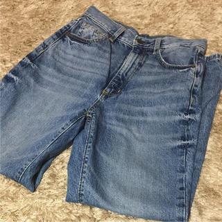 ジーユー(GU)のGUハイウエストストレートジーンズSサイズ(デニム/ジーンズ)