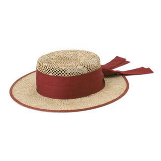 カシラ(CA4LA)のChapeau d' O(シャポードオー)ドットキャノチェ 新品未使用(麦わら帽子/ストローハット)