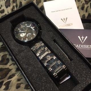高級クォーツ腕時計 CADISEN(金属ベルト)