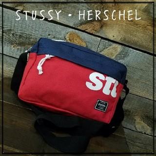 ステューシー(STUSSY)の【新品・未使用】HERSCHEL・STUSSY・コラボ・ポーチ(ウエストポーチ)