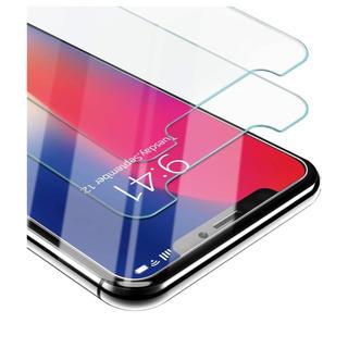 【2枚入り】iphone x ガラスフィルム 液晶保護高透過率 9H硬度(保護フィルム)
