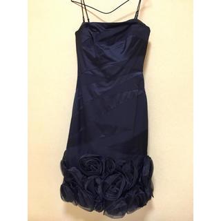 カレンミレン(Karen Millen)の美品 シルクカクテルドレス(ミディアムドレス)