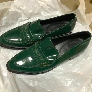 エモダ(EMODA)の緑のローファー(ローファー/革靴)