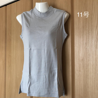 コムサイズム(COMME CA ISM)の【新品】コムサイズム  ノースリーブシャツ 11号サイズ(カットソー(半袖/袖なし))