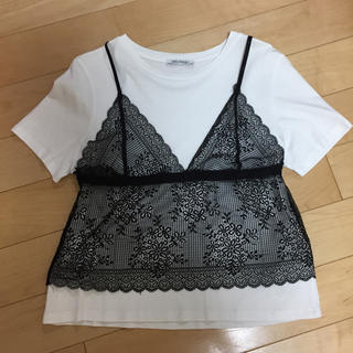 ザラ(ZARA)のZARA/ザラ♡大人気!レイヤードTシャツLサイズ(Tシャツ(半袖/袖なし))