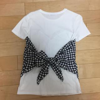 ザラ(ZARA)のZARA/ザラ♡大人気!完売!ギンガムチェックビスチェTシャツSサイズ(Tシャツ(半袖/袖なし))