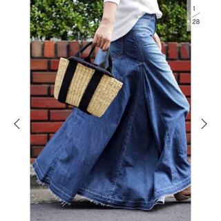 woadblue デニムマキシスカートSサイズ(ロングスカート)