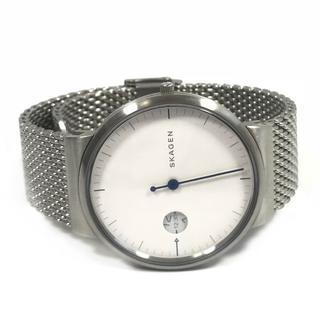 スカーゲン(SKAGEN)の未使用 スカーゲン アンカー 1針 腕時計 メッシュベルト NA25(金属ベルト)