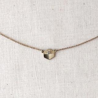 アネモネ(Ane Mone)の六角型 プレート ネックレス ゴールド色(ネックレス)