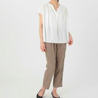 ◆最新◆新品◆無印良品オーガニックコットン楊柳フレンチスリーブブラウス/白