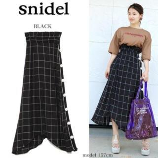 スナイデル(snidel)のsnidel ♡新作♡サイドボタンチェックスカート(ロングスカート)