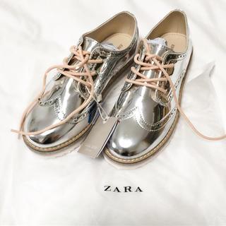 ザラ(ZARA)の新品未使用 完売 ザラキッズ  靴 21.6 34 ヴェリココ 小さいサイズ(その他)