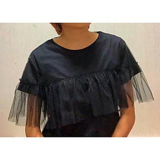 ザラ(ZARA)のフリル シースルー Tシャツセット(Tシャツ(半袖/袖なし))