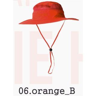 orange_B オレンジ★サファリハット ブーニー★釣り男女★フェスや登山(ハット)