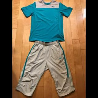 ナイキ(NIKE)の💚NIKE ナイキ💚ウエア  DRY-FIT Tシャツ&パンツ上下 メンズM(ウェア)
