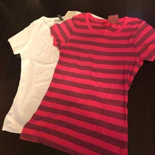 ザラ(ZARA)の新品 Tシャツ2枚セット(Tシャツ(半袖/袖なし))