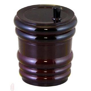 樽型 七味入れ 溜 3-584-2(テーブル用品)