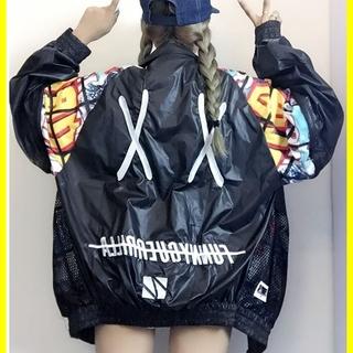 ブルゾン ウインドブレーカー 黒 ゆったり 人気 夏 夏服 レディース(テーラードジャケット)