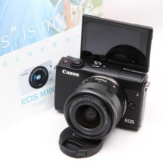 キヤノン(Canon)の【ほぼ新品】Wi-Fi自撮りCanon EOS M100長期保証付き(ミラーレス一眼)