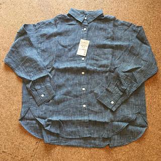 ムジルシリョウヒン(MUJI (無印良品))の新品 無印良品 ストライプシャツ  XSサイズ(シャツ/ブラウス(長袖/七分))