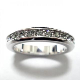 21号 スワロフスキー フルエタニティ グレー シルバーリング(リング(指輪))